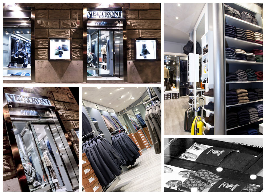 """de4280f4ec5eb La Boutique dal gusto curato e caratterizzata dalla cura dei dettagli  rispecchia a pieno la filosofia del brand """"Veltroni Uomo""""  essere il negozio  dove il ..."""