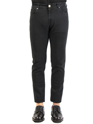 jeans pt torino - pt05 denim swing twill stretch nero