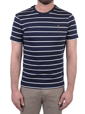 t-shirt polo ralph lauren girocollo righe blu