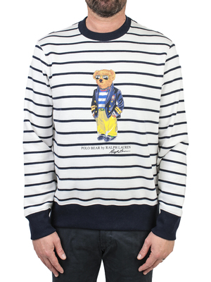 sweatshirt polo ralph lauren crewneck teddy bear white