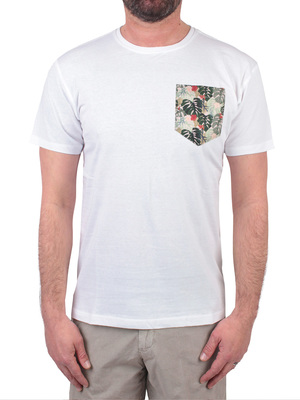 t-shirt homeward crew neck turtles pocket white