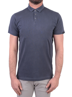polo shirt homeward ventura garment dye blue