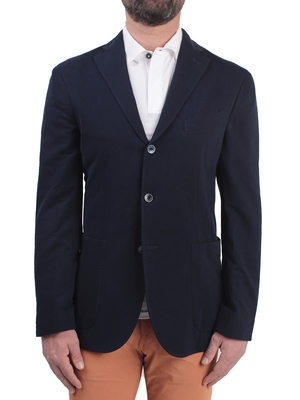 blazer boglioli cotton blue