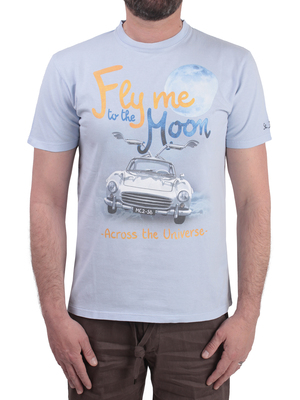 t-shirt mc2 saint barth fly moon grey