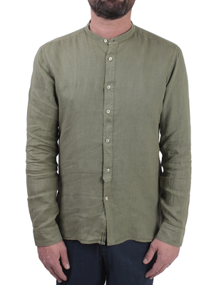 shirt tintoria mattei korean linen green