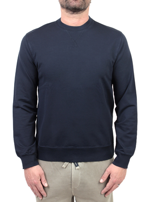 sweatshirt circolo 1901 garment dyed blue