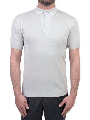 polo shirt john smedley adrian sea island cotton grey