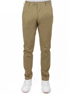 trousers pt torino - pt01 stretch superfine popeline  beige